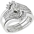 Miadora 14k Gold 3/4ct TDW Diamond Bridal Rings Set (H-I, I1-I2)