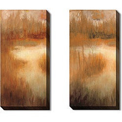 Caroline Ashton 'Brownwood Path' Gallery Wrapped Art Set