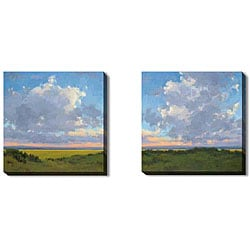Kim Coulter 'Afternoon Sky' Gallery-wrapped Art Set