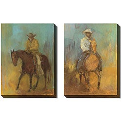 Kim Coulter 'Lone Rider' Gallery Wrapped Art Set