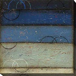 DeRosier 'Blue Spectrum I' Giclee Canvas Art