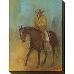 Kim Coulter 'Lone Rider I' Giclee Canvas Art