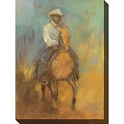 Kim Coulter 'Lone Rider II' Giclee Canvas Art