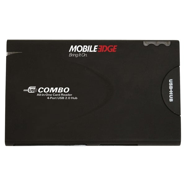 Mobile Edge All-In-One USB 2.0 Card Reader and 3-Port Hub