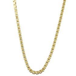 Sterling Essentials 14K Gold over Silver 24-inch Venetian Box Chain (1.5 mm)