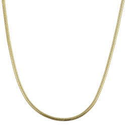 Sterling Essentials 14K Gold over Silver 30-inch Snake Chain (1 mm)