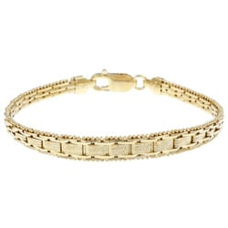 Sterling Essentials 14K Gold over Silver 7 Inch Italian Bracelet