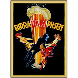 'Birra Itala Pilsen' Framed Art