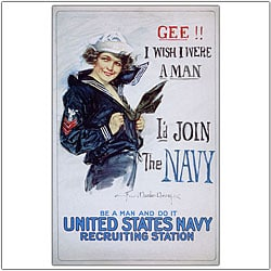 Howard Christy 'US Navy Woman' Canvas Art