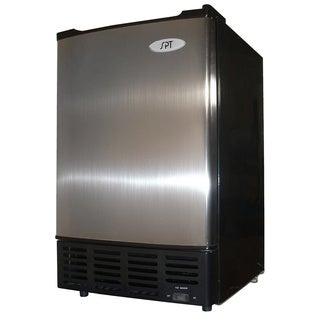 SPT IM-150US Stainless Steel Under-Counter Ice Maker with Freezer