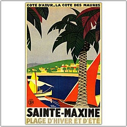 Roger Broders 'Sainte Maxime' Framed Art