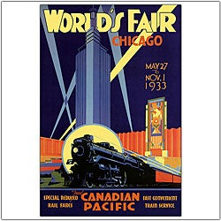 Norman Fraser 'Chicago World's Fair' Framed Art