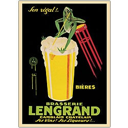 G. Piana 'Bieres Brasserie Lengrand' Canvas Art