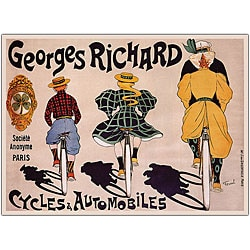 'Georges Richard Cycles & Automobiles' Canvas Art