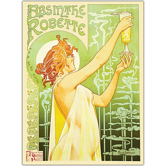Privat Livemont 'Absinthe Robette' Canvas Art