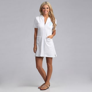 Yogacara Women's Short White Hooded Dress