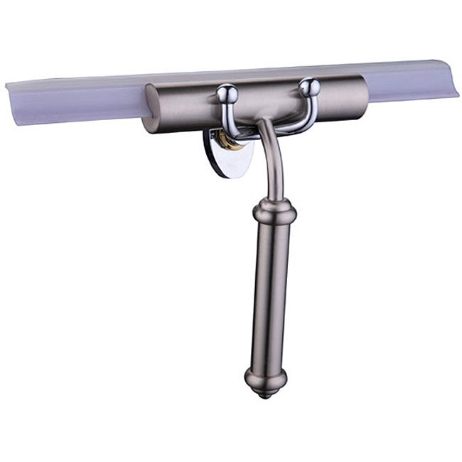 Decorative Replaceable Blade Brass Shower Squeegee with Smooth Handle