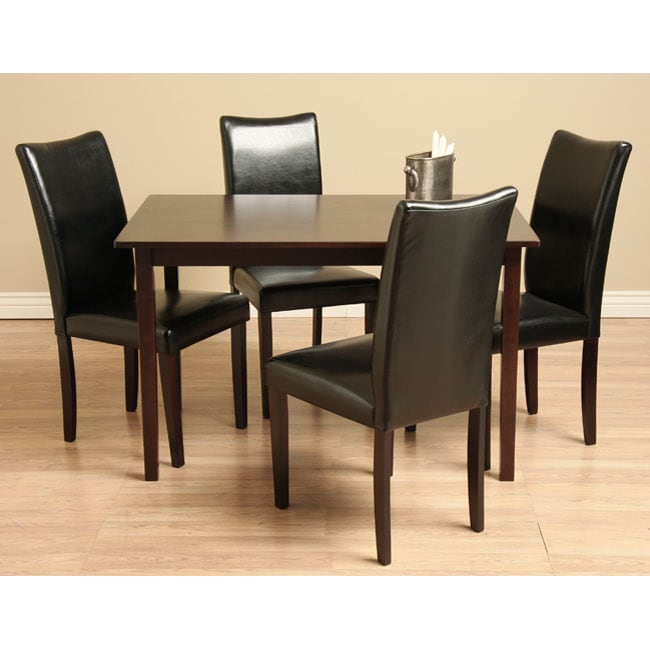 Shino Black 5 piece Dining Room Furniture Set Overstock Shop
