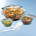 Anchor Hocking Triple Casserole and Kitchen Tools Set