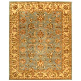 Safavieh Handmade Heritage Kermansha Blue/ Beige Wool Rug (7'6 x 9'6)
