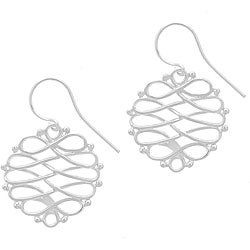 Mondevio Sterling Silver Figure-8 Earrings
