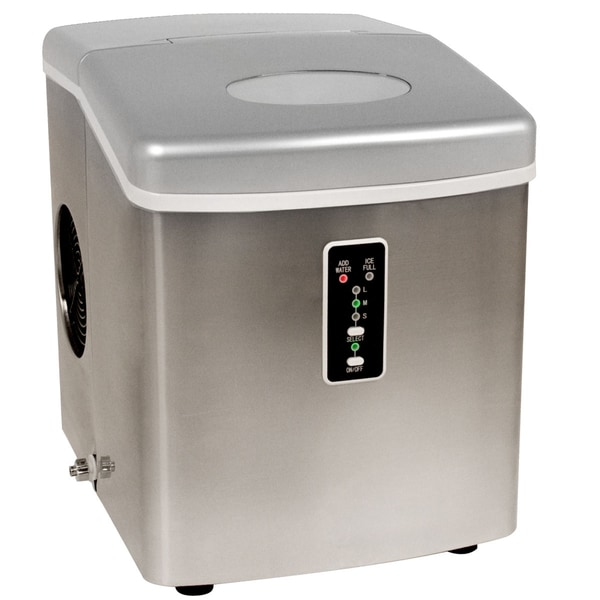 EdgeStar Stainless Steel Portable Ice Maker - 11587626 - Overstock.com ...