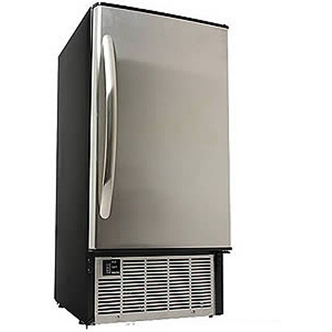 EdgeStar IB450SS Undercounter Clear Stainless Steel Ice Maker