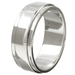 Sterling Essentials Sterling Silver Men's Beveled Band