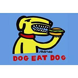 Marco 'Dog Eat Dog' Canvas Art