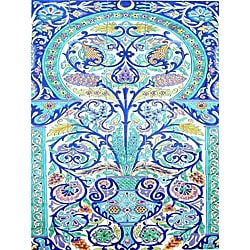 Mosaic 'Moroccan Style' 50-tile Ceramic Wall Mural
