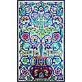 Arabesque Floral Pot 28-tile Mosaic Panel