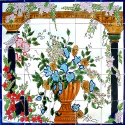Mosaic Backsplash Arcades 25-tile Mural