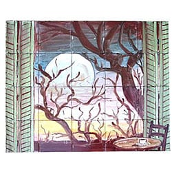 Wood by Night View Mosaic 20-tile Wall Mural