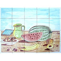 Kitchen Fruit Mosaic 20-tile Wall Mural