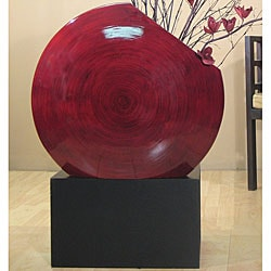 Black Vase Stand for Giant Bamboo Circle Vase