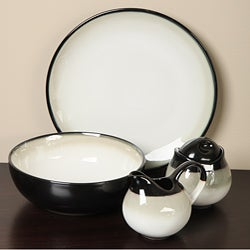 Sango Nova Black 5-piece Dinnerware Completer Set