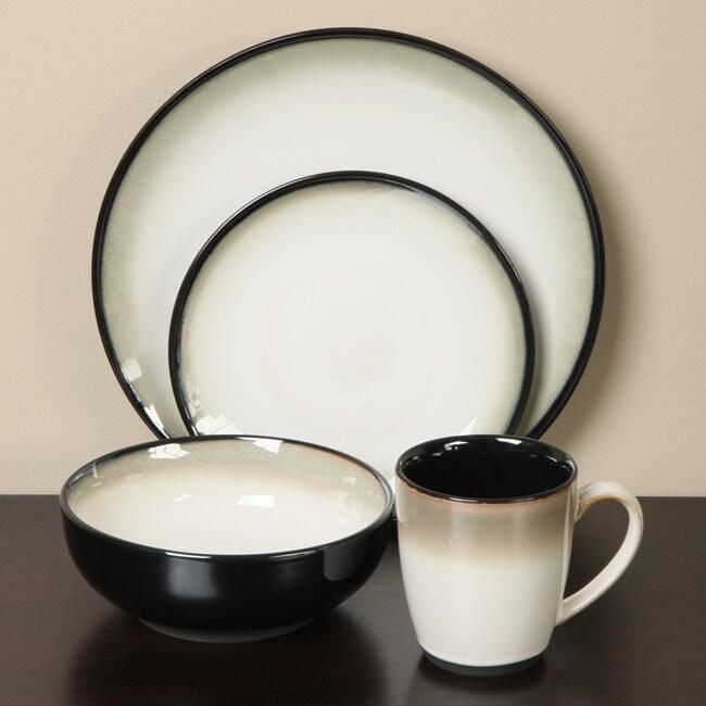 Sango Nova Black 16-piece Dinnerware Set