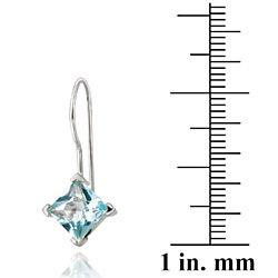 Glitzy Rocks Blue Topaz Sterling Silver Drop Earrings