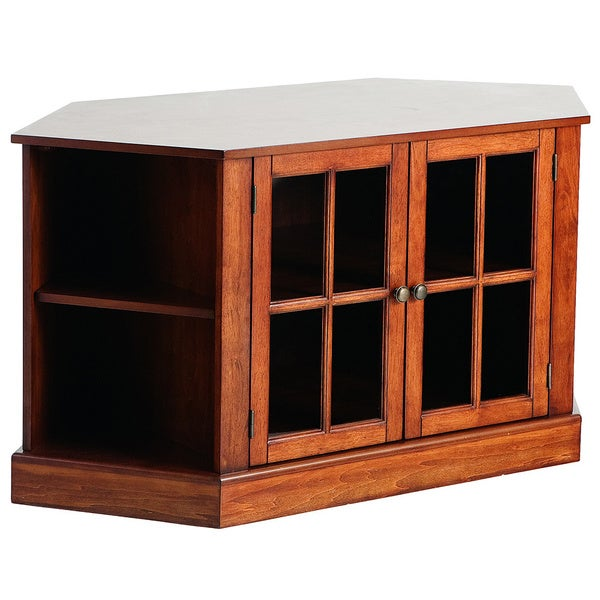 Upton Home Crescent Walnut Corner Media Stand