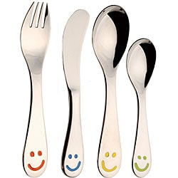 Smiley 4-piece Children's Flatware Set