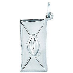 Sterling Silver Sealed with a Kiss Envelope Charm