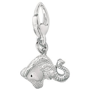 Sterling Silver Elephant Head Charm