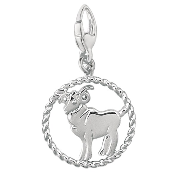 Sterling Silver Zodiac Aries Symbol Charm