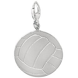Sterling Silver 'Volley Ball' Charm