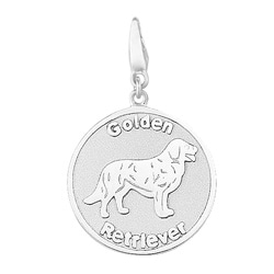 Sterling Silver Golden Retriever Charm