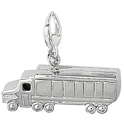 Sterling Silver 'Transport Truck' Charm