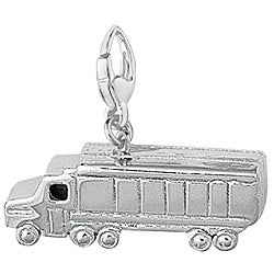 Sterling Silver 'Transport Truck' Charm