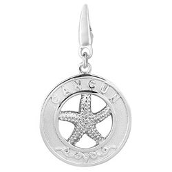 Sterling Silver 'Cancun Starfish' Round Disc Charm