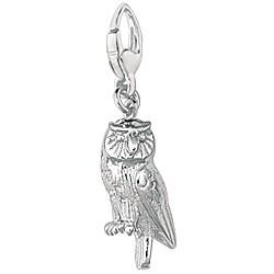 Sterling Silver Barn Owl Charm