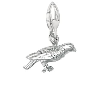 Sterling Silver Perched Canary Charm